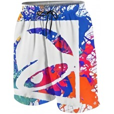 Art Bell with Ta-Co Youth Boys Girls Quick Dry Breathable Swim Trunk Beach Shorts White B08XYR2HT5